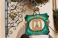 wrought iron sign andre schneider & fils eguisheim alsace france