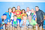 The Tullamore Cycle Club having a rest at the 'Cahersiveen Stop', front l-r:Tom Milne, Carmel Doheny, Jascintha Condron, Joseph Lamb. Back l-r: Maura Milne, Siobhan Sharkey, Gabriel Davis, Ber Davis, Paul Condron, Joseph 'The Pres' Fogarty & Jerry Collins.