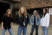 Megadeth - L-R: Glen Drover, Dave Mustaine, Jame LoMenzo, Shawn Drover - photographed exclusively at Hook End Studios in Berkshire, UK - 30 Apr 2006.  Photo credit: George Chin/IconicPix