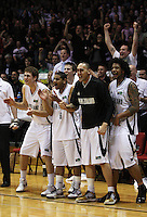 The Tall Blacks bench and the crowd celebrate during the International basketball match between the NZ Tall Blacks and Australian Boomers at TSB Bank Arena, Wellington, New Zealand on 25 August 2009. Photo: Dave Lintott / lintottphoto.co.nz