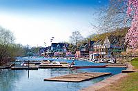 """Schuylkill River, Boat House Row, """"Schuylkill Navy"""", Phila, PA"""