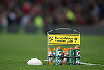 Burton Albion drinks container on the pitch during the Carabao Cup Third Round match at the Old Trafford Stadium, Manchester. Picture date 20th September 2017. Picture credit should read: Simon Bellis/Sportimage