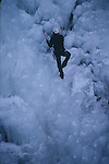 ICE CLIMBER IN OURAY