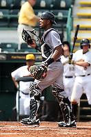 Jupiter Hammerheads catcher Miguel Fermin #13 during a game against the Bradenton Marauders at McKechnie Field on June 22, 2011 in Bradenton, Florida.  Bradenton defeated Jupiter 5-4.  (Mike Janes/Four Seam Images)
