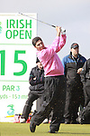 Jose Maria Olazabal teeing off on the 15th hole during day two of the 3 Irish Open..Pic Fran Caffrey/golffile.ie