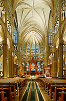 St. Mary's, Cathedral Basilica of the Assumption, Covington, Kentucky, Features largest stained glass window in the world.
