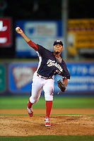 Reading Fightin Phils pitcher Jimmy Cordero (30) delivers a pitch during a game against the New Britain Rock Cats on August 7, 2015 at FirstEnergy Stadium in Reading, Pennsylvania.  Reading defeated New Britain 4-3 in ten innings.  (Mike Janes/Four Seam Images)