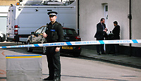 Pictured: Police officers in civilian clothes inside the cordon at Jeffrey Street, Newport, south Wales, UK. Wednesday 20 September 2017<br />Re: Two men have been arrested in south Wales over Friday's terror attack on a London Underground train, bringing the total number held to five.<br />Two men, one 48 and the other 30 were detained under the Terrorism Act in the early hours, after a search at an address in Newport.<br />Police are still searching there, and at a second address in Newport.<br />Thirty people were injured when a homemade bomb partially exploded on a rush-hour Tube train at Parsons Green in south-west London.
