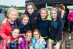 The El Nino rowers having fun front l-r: Mary Beth O'Donoghue, Aisling O'Shea, Caoimhe O'Shea. back row: Jessica O'connor, Cliona Guiney, Lydia O'Sullivan, Isabel O'Connor and Sophie Egan at the Callinafercy Regatta on Sunday