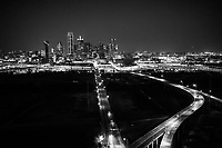 Aerial Dallas Skyline BW - <br />