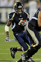 4 December 2010:  FIU wide receiver T.Y. Hilton (4) carries the ball in the third quarter as the Middle Tennessee State University Blue Raiders defeated the FIU Golden Panthers, 28-27, at FIU Stadium in Miami, Florida.