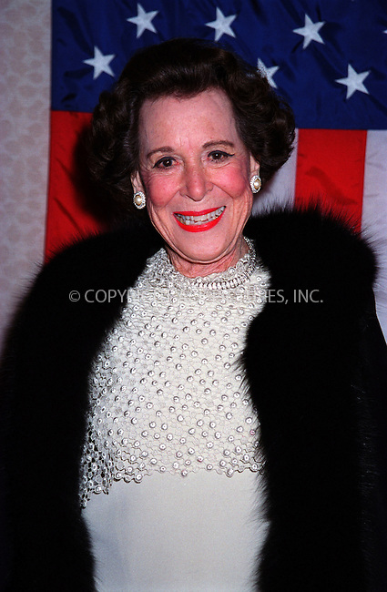 Kitty Carlisle Hart at the Gramercy Theater where Kitty Carlisle Hart was honored. New York. November 26, 2001. Please byline: ARTHUR J./ACE Pictures.   .. *** ***  ..All Celebrity Entertainment, Inc:  ..contact: Alecsey Boldeskul (646) 267-6913 ..Philip Vaughan (646) 769-0430..e-mail: info@nyphotopress.com