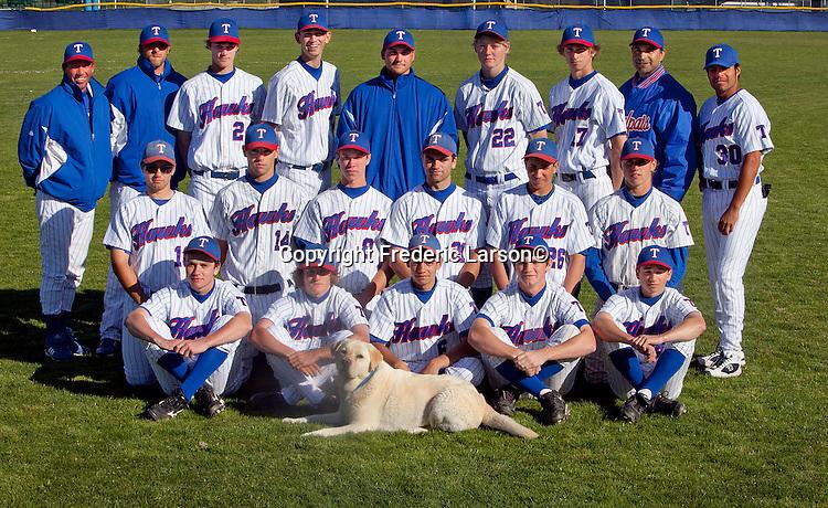 Tamalpais High School Varsity baseball team in Mill Valley, CA......