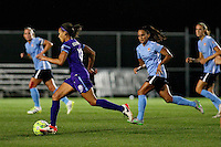 Piscataway, NJ - Wednesday Sept. 07, 2016: Kristen Edmonds, Taylor Lytle during a regular season National Women's Soccer League (NWSL) match between Sky Blue FC and the Orlando Pride FC at Yurcak Field.