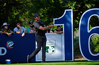 Eddie Pepperell (ENG) on the 16th tee during the 1st round of the DP World Tour Championship, Jumeirah Golf Estates, Dubai, United Arab Emirates. 15/11/2018<br /> Picture: Golffile | Fran Caffrey<br /> <br /> <br /> All photo usage must carry mandatory copyright credit (&copy; Golffile | Fran Caffrey)