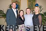 KERINS O'RAHILLYS: Having a great at the Kerins O'Rahillys social at Strand Road on Saturday l-r; Michea?l and Dara Quirke and Oliver and Claire Molloy.