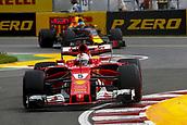 June 11th 2017, Circuit Gilles Villeneuve, Montreal Quebec, Canada; Formula One Grand Prix, Race Day. #5 Sebastian Vettel (GER, Scuderia Ferrari),