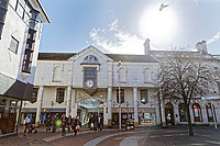 Pictured: The Central Square on the junction of Stepney Street and Vaughan Street in the centre of Llanelli. Wednesday 09 March 2018<br /> Re: The effect that the Scarlets RFC has had in the town of Llanelli in Carmarthenshire and the west Wales region.