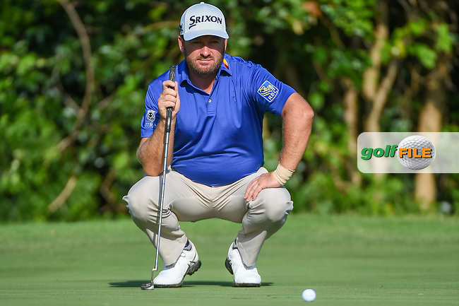 Graeme McDowell (NIR) looks over his putt on 7 during round 3 of the 2019 Charles Schwab Challenge, Colonial Country Club, Ft. Worth, Texas,  USA. 5/25/2019.<br /> Picture: Golffile   Ken Murray<br /> <br /> All photo usage must carry mandatory copyright credit (© Golffile   Ken Murray)