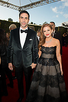 Golden Globe nominee Sacha Baron Cohen and Isla Fisher attend the 76th Annual Golden Globe Awards at the Beverly Hilton in Beverly Hills, CA on Sunday, January 6, 2019.<br /> *Editorial Use Only*<br /> CAP/PLF/HFPA<br /> Image supplied by Capital Pictures