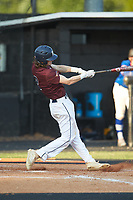 Bryson Bebber (2) of Kannapolis Post 115 at bat against Mooresville Post 66 during an American Legion baseball game at Northwest Cabarrus High School on May 30, 2019 in Concord, North Carolina. Mooresville Post 66 defeated Kannapolis Post 115 4-3. (Brian Westerholt/Four Seam Images)