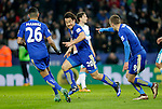 Shinji Okazaki of Leicester City celebrates his goal during the Barclays Premier League match at The King Power Stadium.  Photo credit should read: Malcolm Couzens/Sportimage