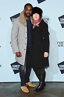 Nicholas Pinnock &amp; wife, Olivia Williams at the launch party for Skate at Somerset House, London, UK. <br /> 14 November  2017<br /> Picture: Steve Vas/Featureflash/SilverHub 0208 004 5359 sales@silverhubmedia.com