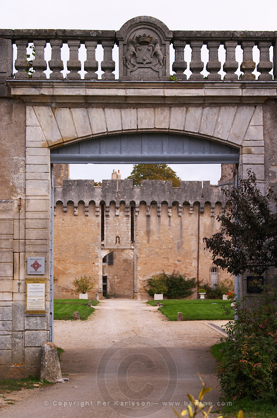 entrance chateau de rully burgundy france