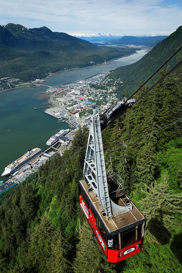 Mount Roberts Tramway over Juneau, Alaska, USA
