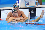 (L-R) Gabriele Detti (ITA), Gregorio Paltrinieri (ITA), <br /> AUGUST 13, 2016 - Swimming : <br /> Men's 1500m Freestyle Final <br /> at Olympic Aquatics Stadium <br /> during the Rio 2016 Olympic Games in Rio de Janeiro, Brazil. <br /> (Photo by Yohei Osada/AFLO SPORT)