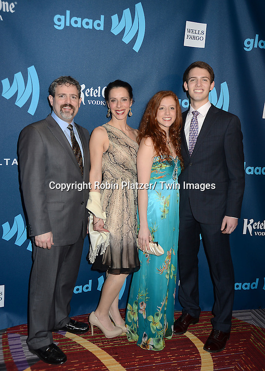 Jacob Rudolph and his family attends the 24th Annual GLAAD Media Awards on March 16, 2013 at The Marriott Marquis in New York City.