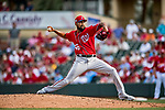 24 February 2019: Washington Nationals top prospect pitcher Ronald Pena on the mound during a Spring Training game against the St. Louis Cardinals at Roger Dean Stadium in Jupiter, Florida. The Nationals defeated the Cardinals 12-2 in Grapefruit League play. Mandatory Credit: Ed Wolfstein Photo *** RAW (NEF) Image File Available ***
