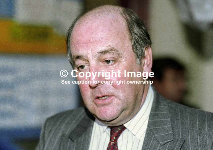Alan Tuffin, general secretary, Union of Communications Workers, UK, at annual conference, UK Labour Party, October 1992. 19921012AT.<br />