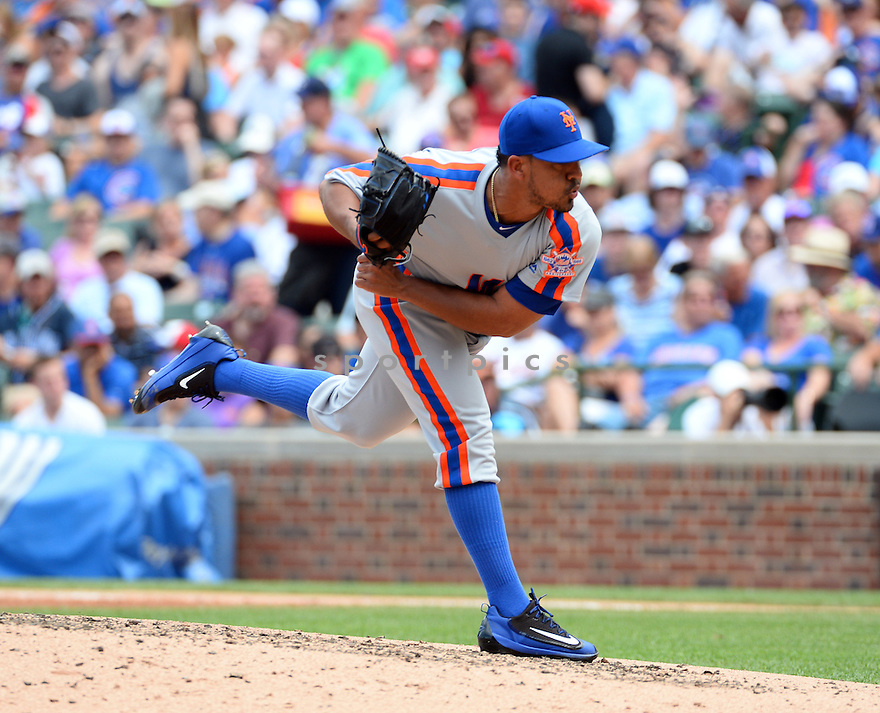 New York Mets Antonio Bastardo (59) during a game against the Chicago Cubs on July 20, 2016 at Wrigley Field in Chicago, IL. The Cubs beat the Mets 6-2.