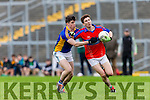 I.S. Killorglin Ciaran Kennedy is halted by Tralee CBS Kieran Dwyer during Corn Uí Mhuírí Q/F in Fitzgerald Stadium on Wednesday