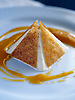 Cleopatra's Pyramid Dessert of toasted almond biscuits & lavender icecream w apricot coulis