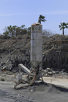Abandoned cement structure,Tenerife, canary islands