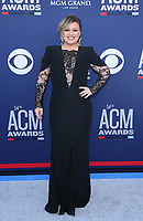 07 April 2019 - Las Vegas, NV - Kelly Clarkson. 2019 ACM Awards at MGM Grand Garden Arena, Arrivals.<br /> CAP/ADM/MJT<br /> &copy; MJT/ADM/Capital Pictures