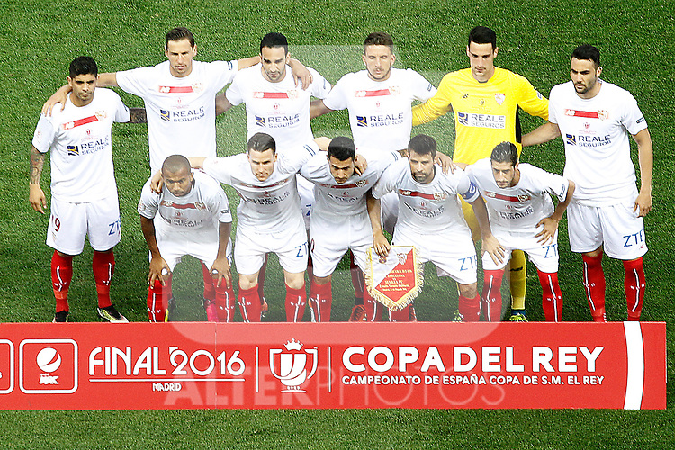 Sevilla CF's team photo during Spanish Kings Cup Final match. May 22,2016. (ALTERPHOTOS/Acero)
