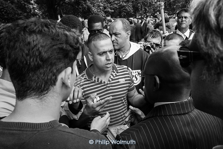 Argument, Speakers' Corner, Hyde Park, London.