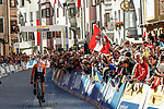 Wilco Kelderman (NED) during the Men's Elite Individual Time Trial of the 2018 UCI Road World Championships running 52.5km from Wattens to Innsbruck, Innsbruck-Tirol, Austria 2018. 26th September 2018.<br /> Picture: Innsbruck-Tirol 2018/BettiniPhoto | Cyclefile<br /> <br /> <br /> All photos usage must carry mandatory copyright credit (© Cyclefile | Innsbruck-Tirol 2018/BettiniPhoto)