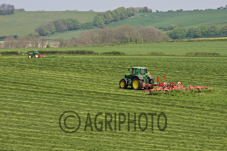 26.4.2011 Grass Rake Silage Making.©Tim Scrivener 07850 303986