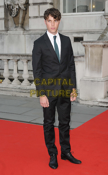 Tom Hughes<br /> The &quot;About Time&quot; UK film premiere to open Somerset House's Film4 season of outdoor cinema, Somerset House, the Strand, London, England.<br /> August 8th, 2013<br /> full length black suit<br /> CAP/CAN<br /> &copy;Can Nguyen/Capital Pictures