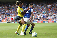 Blackburn Rovers' Kasey Palmer and Ipswich Town's Gwion Edwards<br /> <br /> Photographer Rachel Holborn/CameraSport<br /> <br /> The EFL Sky Bet Championship - Ipswich Town v Blackburn Rovers - Saturday 4th August 2018 - Portman Road - Ipswich<br /> <br /> World Copyright &copy; 2018 CameraSport. All rights reserved. 43 Linden Ave. Countesthorpe. Leicester. England. LE8 5PG - Tel: +44 (0) 116 277 4147 - admin@camerasport.com - www.camerasport.com
