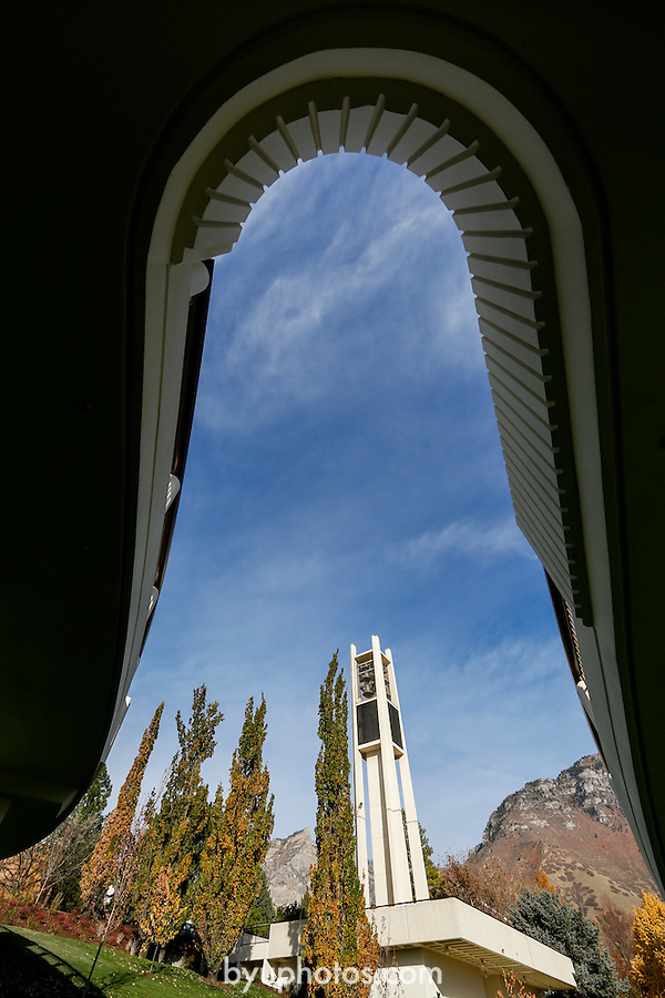 1210-67 091<br /> <br /> 1210-67 Bell Tower GCS<br /> General Campus Scenics <br /> <br /> November 5, 2012<br /> <br /> Photo by Mark A. Philbrick/BYU<br /> <br /> &copy; BYU PHOTO 2013<br /> All Rights Reserved<br /> photo@byu.edu  (801)422-7322
