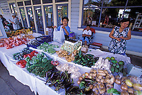 Honokaa saturday morning farmers' market, Big Island of Hawaii