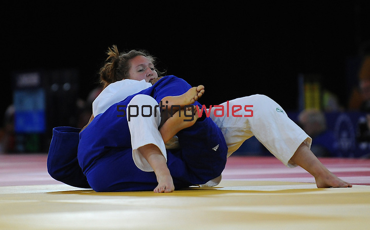 Wales Natalie Powell in action against Canada's Al Portuondo<br /> <br /> Photographer Ian Cook/Sportingwales<br /> <br /> 20th Commonwealth Games - Judo -  Day 3 - Saturday 26th July 2014 - Glasgow - UK