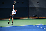 WINSTON SALEM, NC - MAY 22: Borna Gojo of the Wake Forest Demon Deacons serves against the Ohio State Buckeyes during the Division I Men's Tennis Championship held at the Wake Forest Tennis Center on the Wake Forest University campus on May 22, 2018 in Winston Salem, North Carolina. Wake Forest defeated Ohio State 4-2 for the national title. (Photo by Jamie Schwaberow/NCAA Photos via Getty Images)