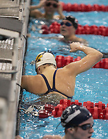 Emily Brunemann (University of Michigan) competing in the 100 Butterfly Preliminaries at the 2008 Women's Big Ten Swimming and Diving Championships, held as the Ohio State University's McCorkle Aquatic Center. Feb. 21st-23rd, 2008. Three Meter Prelims...