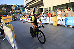 Matteo Trentin (ITA) Mitchelton-Scott during Stage 1 of the La Vuelta 2018, an individual time trial of 8km running around Malaga city centre, Spain. 25th August 2018.<br /> Picture: Ann Clarke | Cyclefile<br /> <br /> <br /> All photos usage must carry mandatory copyright credit (© Cyclefile | Ann Clarke)